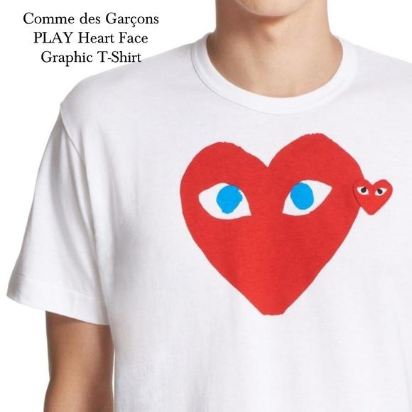 a4950724e0c7 Comme des Garcons Other - Comme des Garçons PLAY Heart Face Graphic T-Shirt